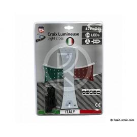 CROIX LUMINEUSE 20 X 25CM 84 LEDS 12/24V ITALIE