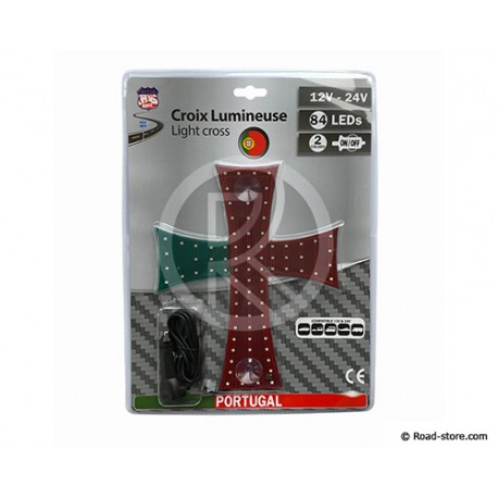 CROIX LUMINEUSE 20 X 25CM 84 LEDS 12/24V PORTUGAL