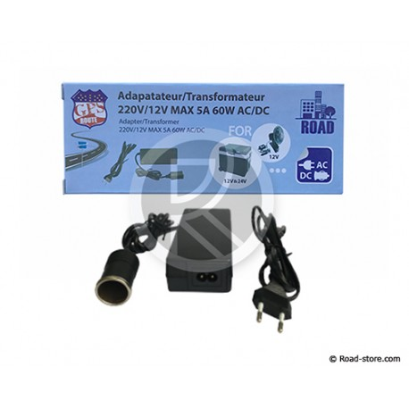 ADAPTATEUR / TRANSFORMATEUR 230V/12V 5A 60W AC/DC