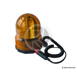 GYROPHARE ORANGE 24V/21W MAGNETIQUE CABLE 2M (ETANCHE)