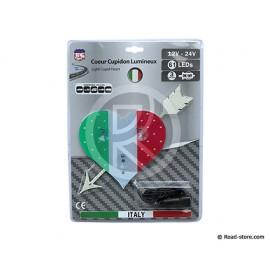 COEUR LUMINEUX PAYS 23 X 25CM 61 LEDS 12/24V ITALIE