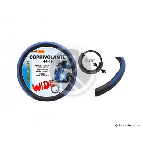 COUVRE-VOLANT PVC 44-46 LARGE 10CM BLEU