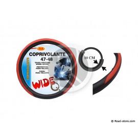 COUVRE-VOLANT PVC 47-48 LARGE 10CM ROUGE