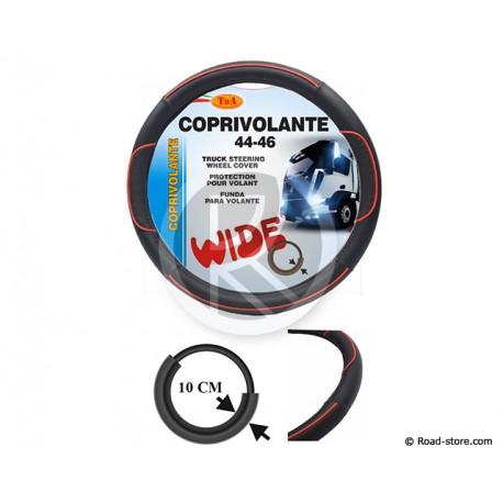 """COUVRE-VOLANT PVC 44-46 LARGE 10CM """"LINE"""" ROUGE"""