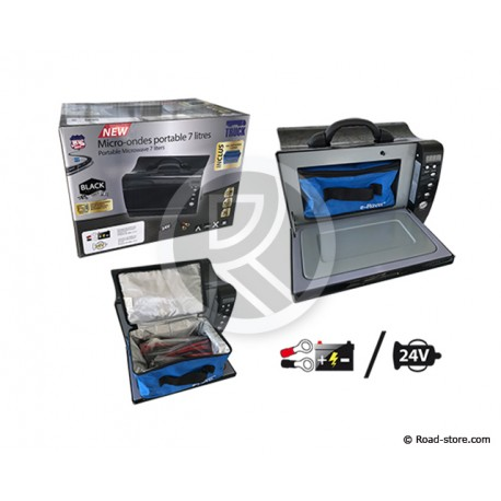 """MICRO-ONDES 7L 24V 425W """"BLACK EDITION"""" + SAC ISOTHERME"""